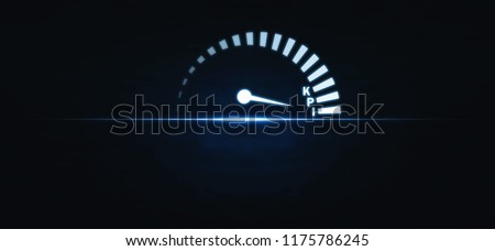 Speedometer with KPI word. Key Performance Indicator. Business concept #1175786245