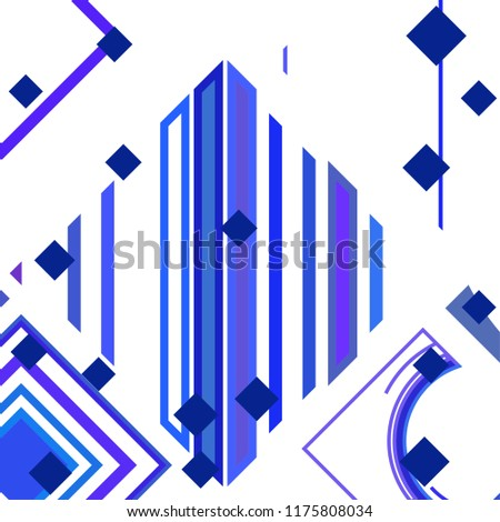 Vector Abstract geometric shape from colored rhombs #1175808034