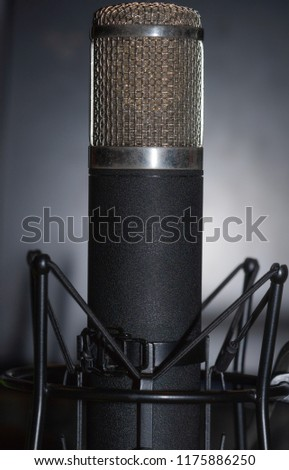 Take a picture microphone recording studio room have a nice sound of voice high technology equipment audio #1175886250
