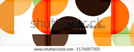 Modern geometrical abstract background - circles. Business or technology presentation design template, brochure or flyer pattern, or geometric vector web banner #1176007303