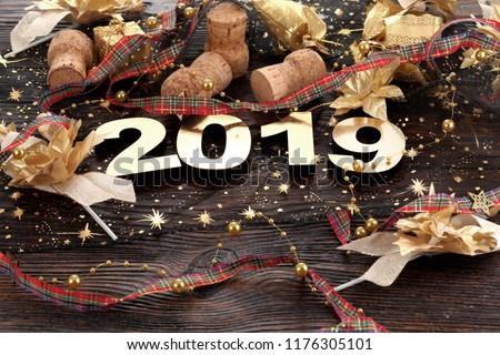 Happy New Year 2019 Royalty-Free Stock Photo #1176305101