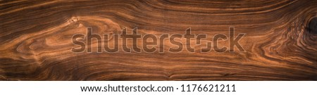 Walnut wood texture. Super long walnut planks texture background.Texture element	 Royalty-Free Stock Photo #1176621211
