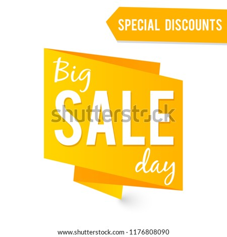 Big Sale label or banner vector template isolated on white background illustration #1176808090