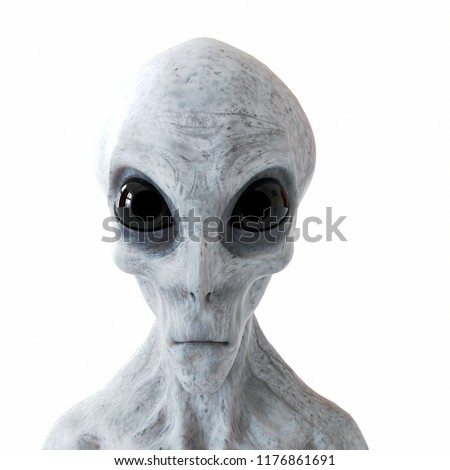 3d rendered illustration of a humanoid alien  Royalty-Free Stock Photo #1176861691