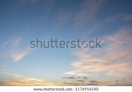 Background with magic of the sky and clouds at dawn, sunrise, sunset, pictures use in printing, design, advertising, graphic