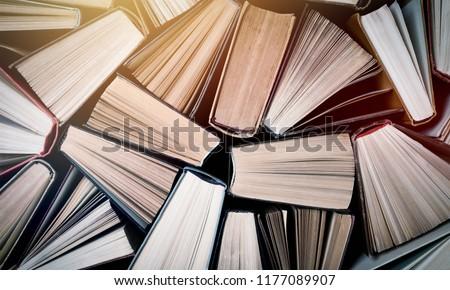 Old and used hardback books #1177089907