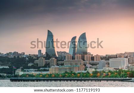 Baku the capital of Azerbaijan #1177119193