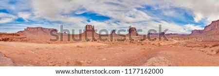 Panoramic picture of Monument Valley #1177162000