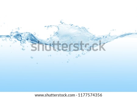 Water ,water splash isolated on white background,water splash, #1177574356
