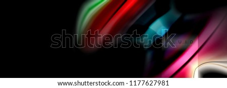 Rainbow fluid abstract shapes, liquid colors design, colorful marble or plastic wavy texture background, multicolored template for business or technology presentation or web brochure cover design #1177627981
