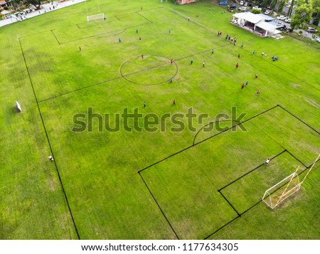 football field from top view #1177634305