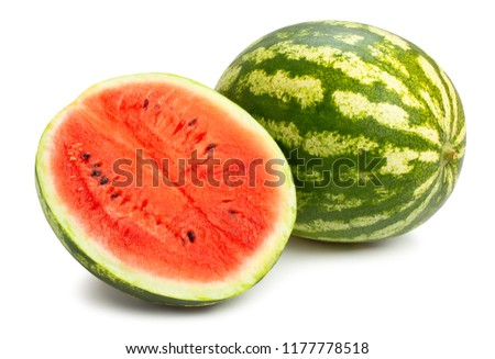 sliced watermelon path isolated #1177778518