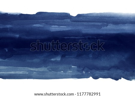 dark blue watercolor stain, abstract color background #1177782991