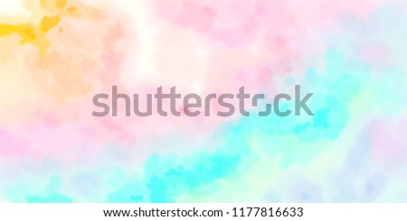 Colorful watercolor hand-painted art illustration : abstract art background (High-resolution 2D CG illustration) #1177816633