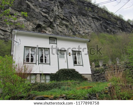 Geiranger, Norway: May 2018 - The village of Geiranger in  Western Norway, Scandanavia #1177898758