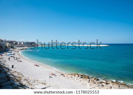 Blue sea beach  #1178025553