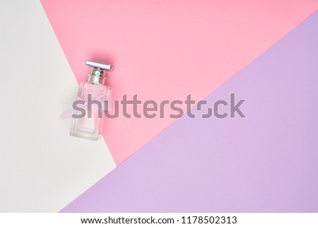 Abstract pastel colored paper texture minimalism background. Minimal geometric shapes and lines in pastel colours. #1178502313