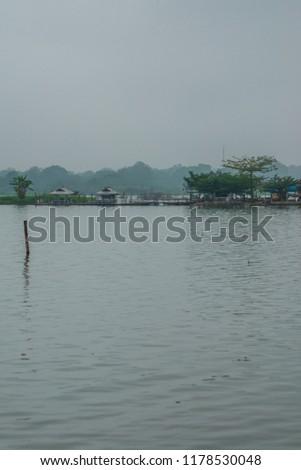 Tilok Aram temple in Kwan Phayao lake, Thailand. #1178530048