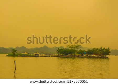 Tilok Aram temple in Kwan Phayao lake, Thailand. #1178530051