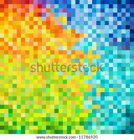 close-up colorful pixels