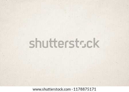 Cream Pastel abstract Hessian or sackcloth fabric or hemp sack texture background. Wallpaper of artistic wale linen canvas. Blanket or Curtain of cotton pattern with copy space for text decoration.  #1178875171