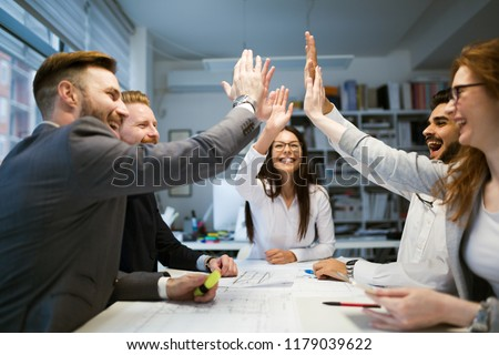 Business people working together on project and brainstorming in office #1179039622