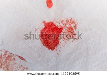 Blood Tissue Paper caused by the large acne squeeze. #1179108595