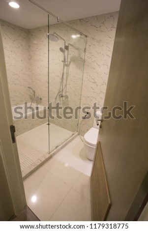 Modern bathroom interior #1179318775