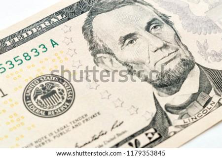 close up on dollar bill #1179353845