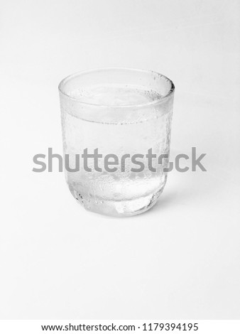 Clean drinking water in a glass. #1179394195