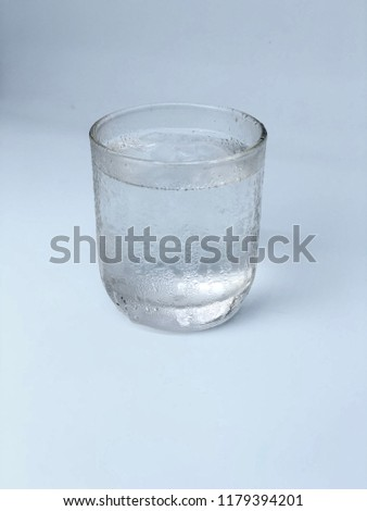 Clean drinking water in a glass. #1179394201