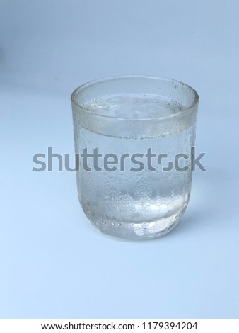 Clean drinking water in a glass. #1179394204