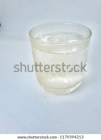 Clean drinking water in a glass. #1179394213