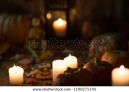 Background for Halloween on wooden boards #1180275196