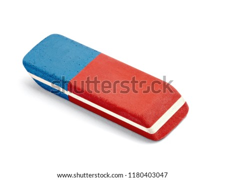 close up of a eraser on white background #1180403047