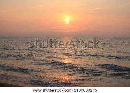 beautiful sunset on Baltic sea #1180838296