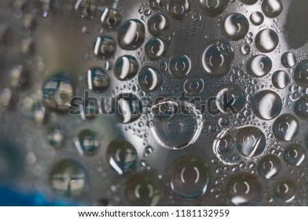 Water drop caused by cold on the water bottle, background #1181132959