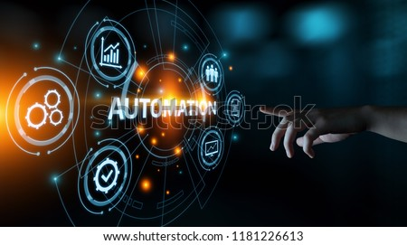 Automation Software Technology Process System Business concept. #1181226613