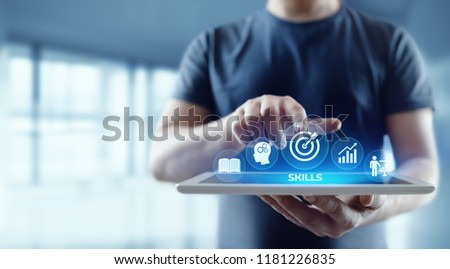 Skill Knowledge Ability Business Internet technology Concept. Royalty-Free Stock Photo #1181226835