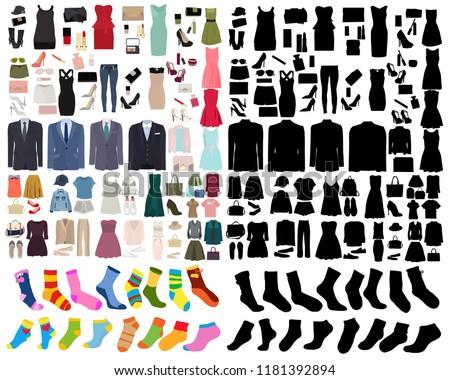 set of women fashion clothes #1181392894