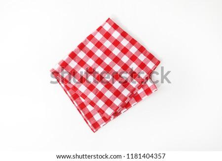 The checkered tablecloth. Decorative cotton napkin. #1181404357