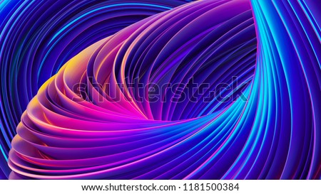 3D abstract colorful fluid design background. Trendy holographic gradient shapes. Liquid curve shape in motion. Fluid ultra violet shapes composition. 3D rendering.