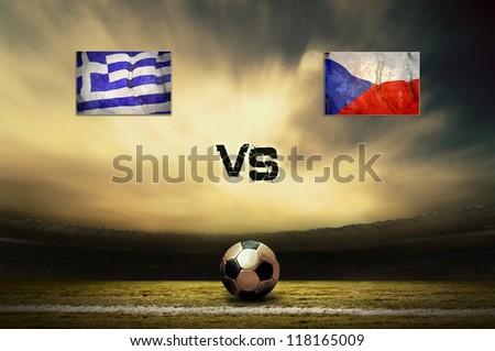 Friendly soccer match between Greece and Czech #118165009