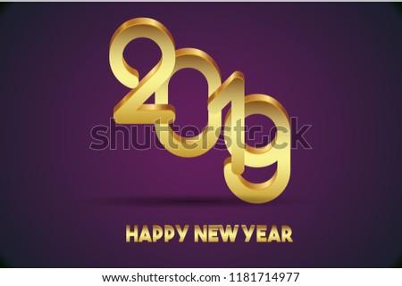 Happy New Year 2019 Design #1181714977