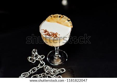 cocktails drinks on the black background #1181822047