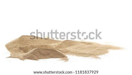 Pile desert sand dune isolated on white background, clipping path #1181837929