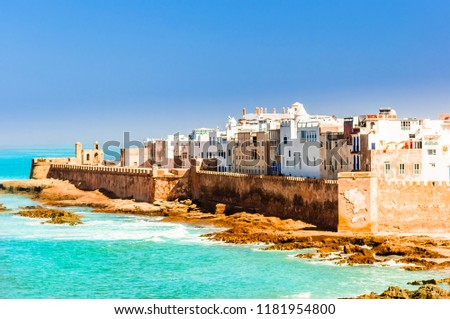 Aerial view on old city of Essaouira in Morocco #1181954800