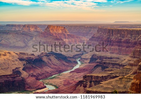 Grand Canyon, Arizona, USA at dawn from the south rim. #1181969983