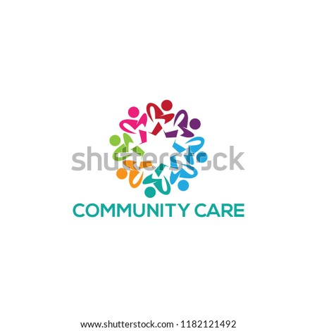 community care logo design, vector illustration #1182121492