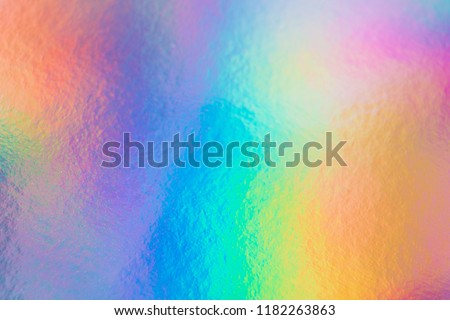 colorful holographic paper with rainbow lights. #1182263863